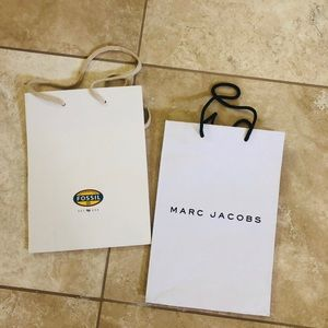 Fossil and mark jakobs shopping bags